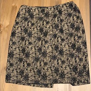 Black and Nude Skirt with Lace Design
